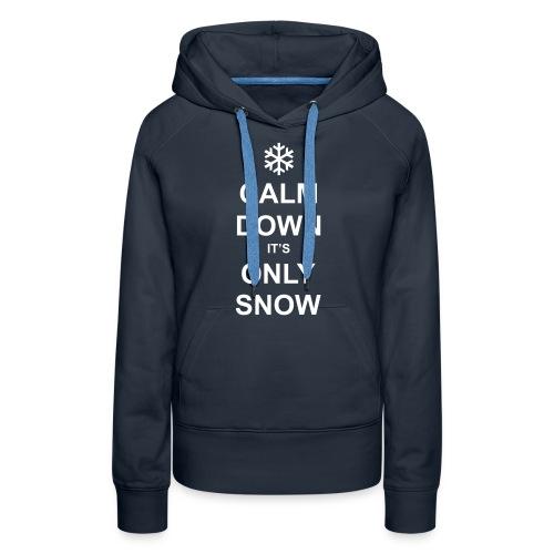 Only Snow - Ladies Navy Hoodie - Women's Premium Hoodie