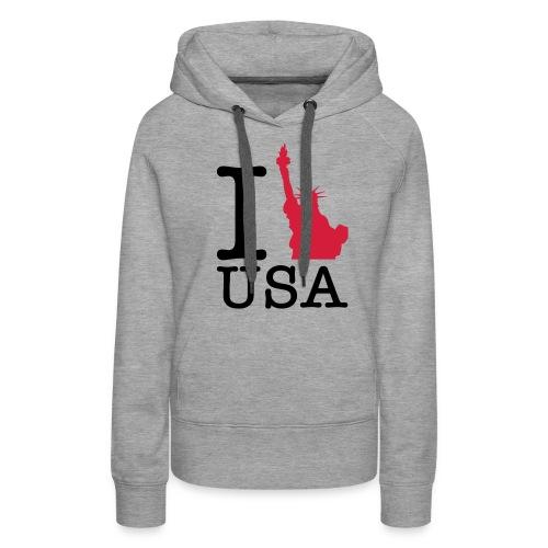 USA - Sudadera con capucha premium para mujer