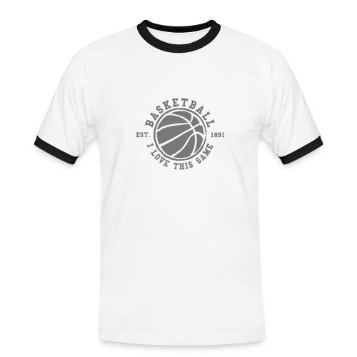 Basketball tee for him - Kontrast-T-skjorte for menn
