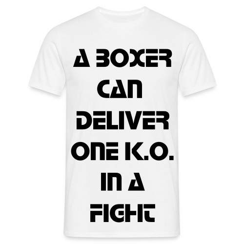 Men - Boxer Vs DJ's Black Text - Herre-T-shirt