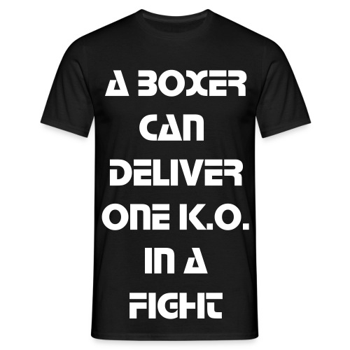 Men - Boxer Vs DJ's White Text - Herre-T-shirt