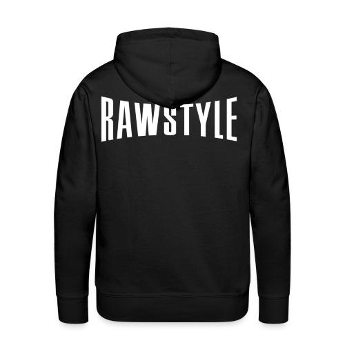 Rawstyle logo black hooded sweater - Men's Premium Hoodie