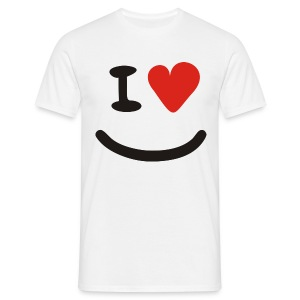 I Heart Smiley - Männer T-Shirt