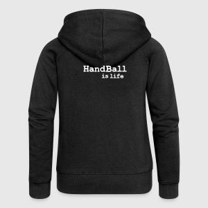handball is life Jacken - Frauen Premium Kapuzenjacke