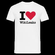 T-shirts ~ Mannen T-shirt ~ I Love WikiLeaks (zwarte opdruk)