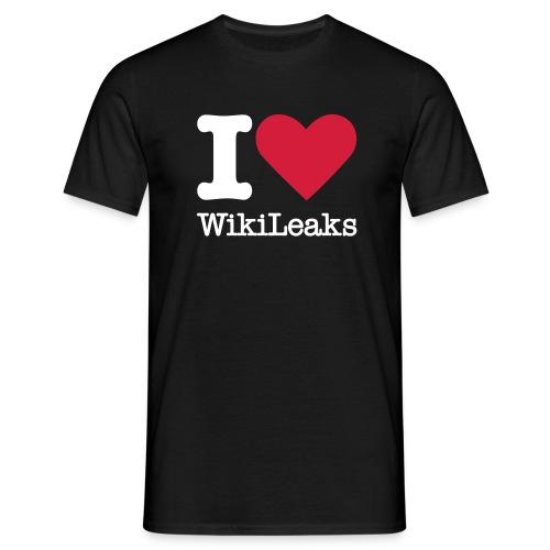 I Love WikiLeaks (witte opdruk) - Mannen T-shirt