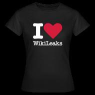 T-shirts ~ Vrouwen T-shirt ~ I Love WikiLeaks (witte opdruk)
