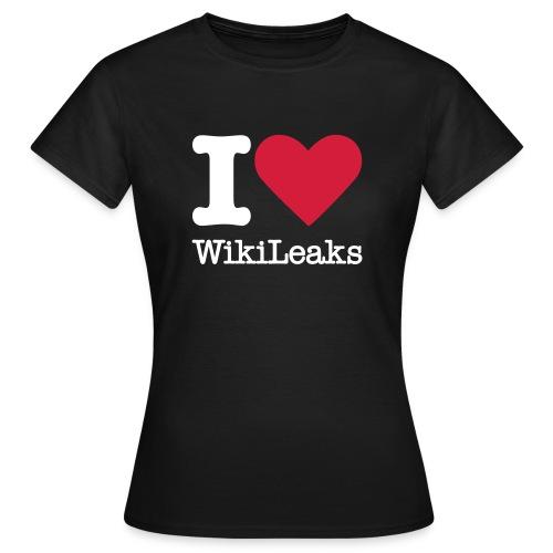 I Love WikiLeaks (witte opdruk) - Vrouwen T-shirt