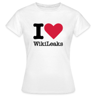 T-shirts ~ Vrouwen T-shirt ~ I Love WikiLeaks (zwarte opdruk)