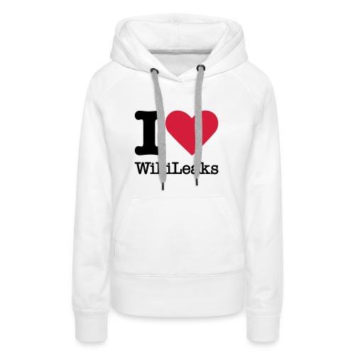I Love WikiLeaks (zwarte opdruk) - Vrouwen Premium hoodie