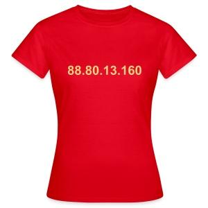IP 88.80.13.160 (creme opdruk) - Vrouwen T-shirt