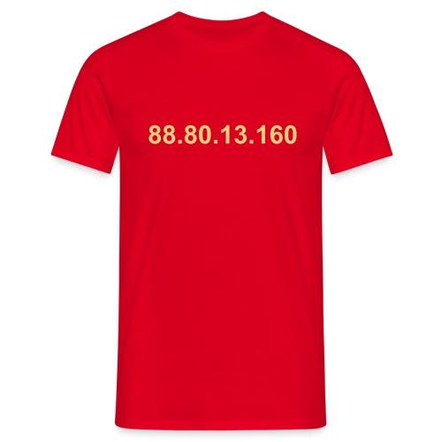 IP 88.80.13.160 (creme opdruk) - Mannen T-shirt