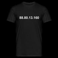 T-shirts ~ Mannen T-shirt ~ IP 88.80.13.160 (witte opdruk)