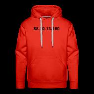 Sweaters ~ Mannen Premium hoodie ~ IP .80.13.160 (zwarte opdruk)