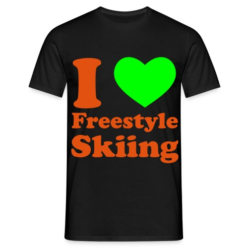 I love freestyle Skiing - Männer T-Shirt