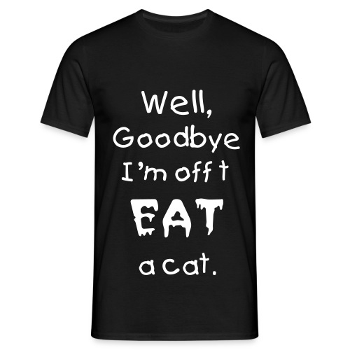 Gavin's - Eat a Cat - Black   - Men's T-Shirt
