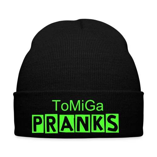 ToMiGa Pranks Hat - Black and Green - Winter Hat