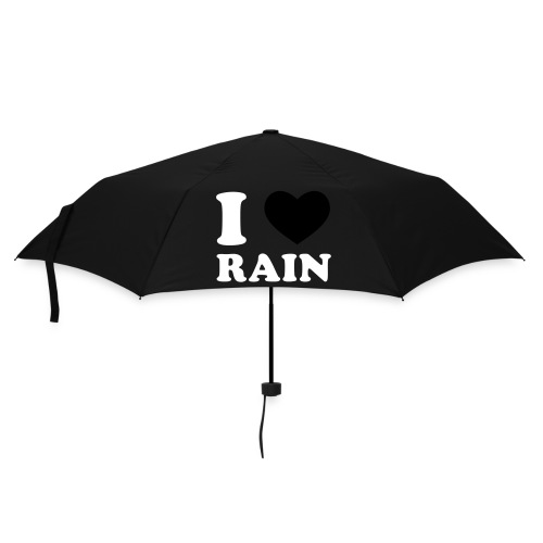 I Love Rain - Ombrello tascabile