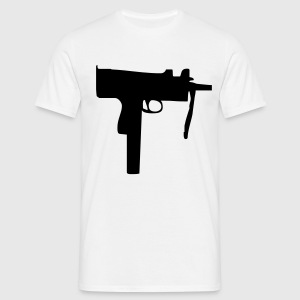 gun uzi weapon T-shirts - Mannen T-shirt