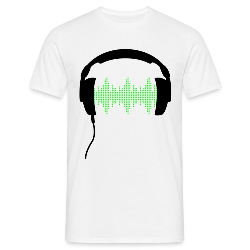 Headphones Volt Male T-Shirt - Men's T-Shirt