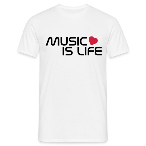 Music Is Life Male -Tshirt - Men's T-Shirt