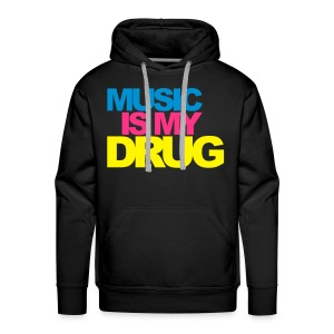 Sweat Music is my drug - Sweat-shirt à capuche Premium pour hommes