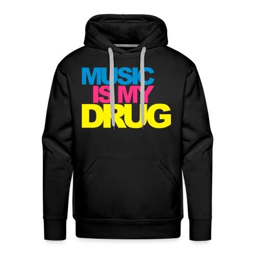 Sweat Music is my drug - Sweat-shirt à capuche Premium pour hommes