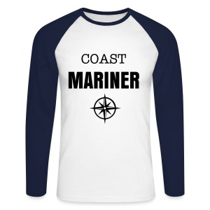 COAST MARINER - BICOLORS BLUE - T-shirt baseball manches longues Homme