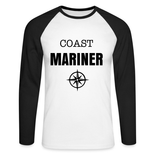 COAST MARINER - BICOLORS BLACK - T-shirt baseball manches longues Homme