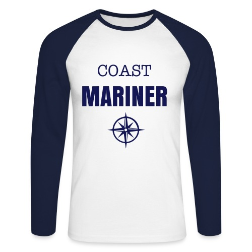 COAST MARINER - BICOLORS TOTAL/BLUE - T-shirt baseball manches longues Homme