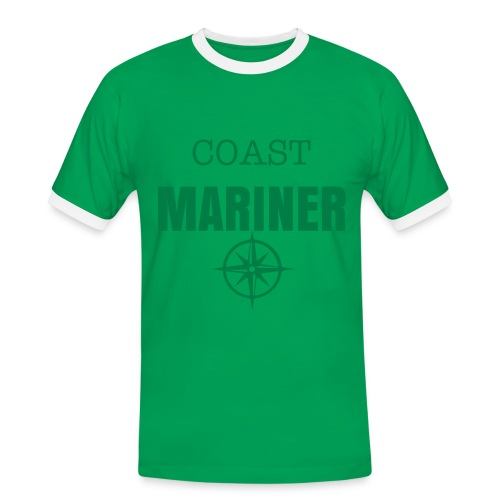 COAST MARINER - BICOLORS GREEN/RED - T-shirt contrasté Homme