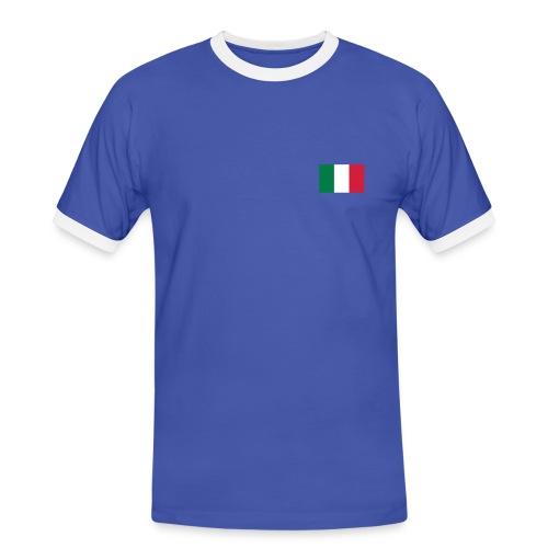 T-SHIRT ITALIE BLUE - T-shirt contrasté Homme
