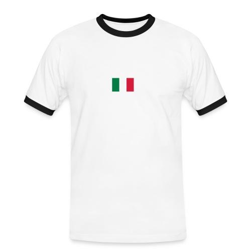 T-SHIRT ITALIE WHITE - T-shirt contrasté Homme