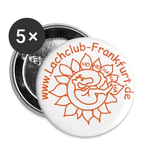 Lachclub-Frankurt Button - Buttons groß 56 mm (5er Pack)
