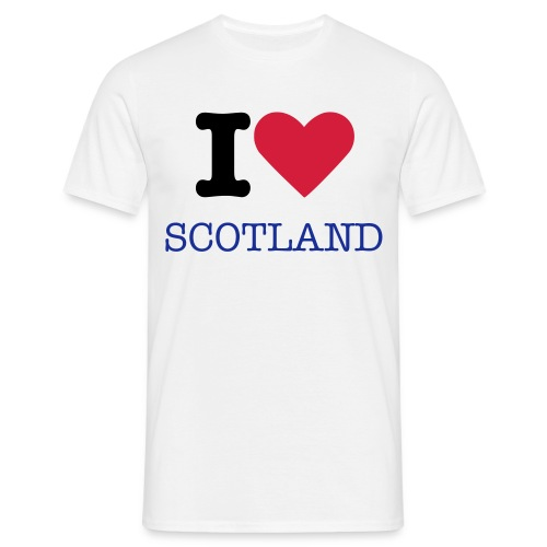 I LOVE SCOTLAND - Men's T-Shirt