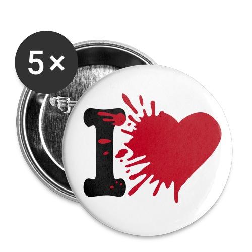 Riesen Button - Buttons klein 25 mm (5er Pack)