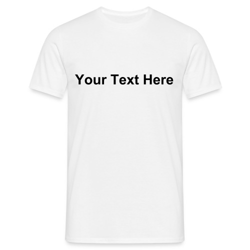 Custom T-shirt (White) - Men's T-Shirt