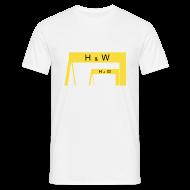 T-Shirts ~ Men's T-Shirt ~ Harland & Wolff Cranes