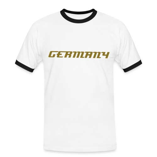 Fan-Shirt Germany [Weiß-Gold] - Männer Kontrast-T-Shirt