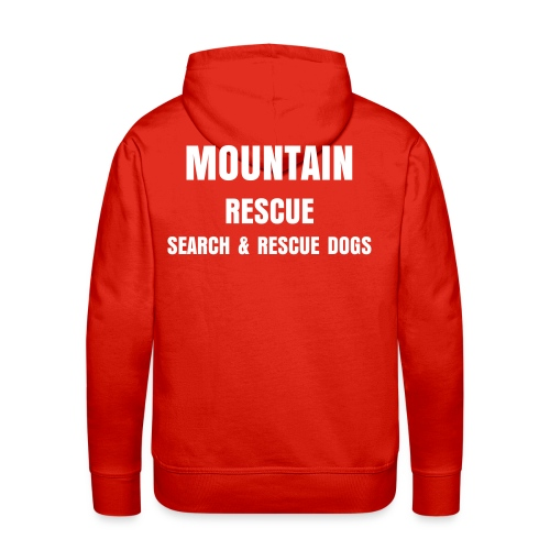 Mountain Rescue SAR Dogs Red Hoodie - Men's Premium Hoodie