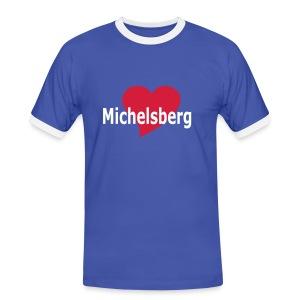 T-Shirt Michelsberg - Siebenbürgen - Transylvania - Erdely - Ardeal - Transilvania - Romania - Rumänien - Männer Kontrast-T-Shirt