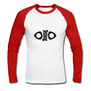 Rotary Symmetry - Red - Men's Long Sleeve Baseball T-Shirt