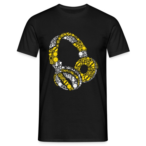 T-shirt Homme - casque headphone dj deejay