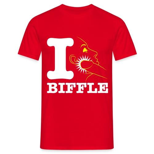 T-shirt Homme - i love biffle dj deejay