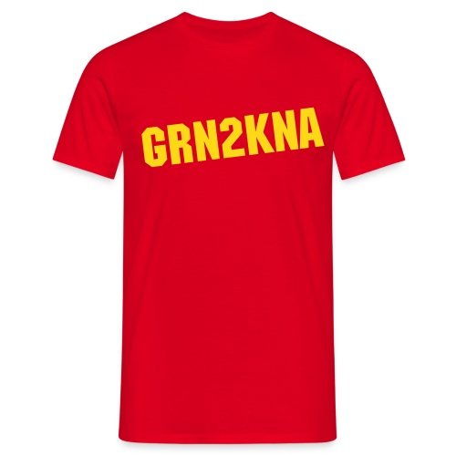 GRN2KNA Blanc / Rouge - T-shirt Homme