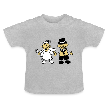 Sweet little bride and groom Baby Shirts