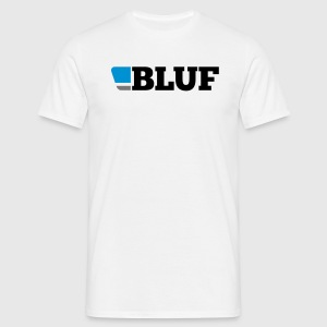 White t shirt, large logo - Men's T-Shirt