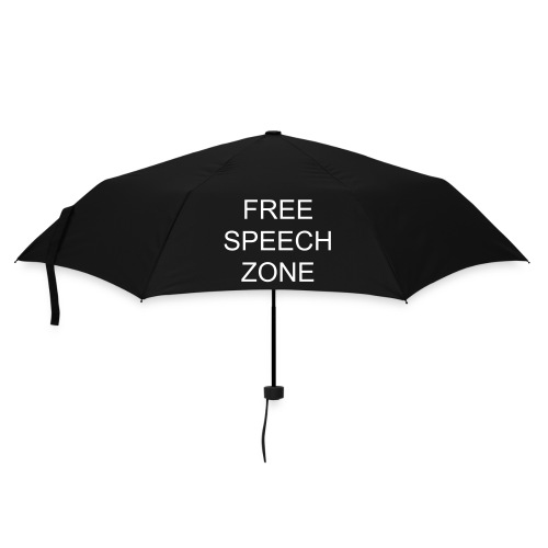 Black-Ops Free Speech Speech Zone - Umbrella (small)