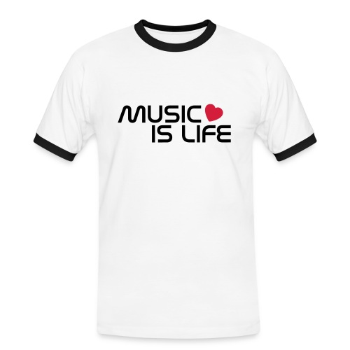 Music is Life - Mannen contrastshirt