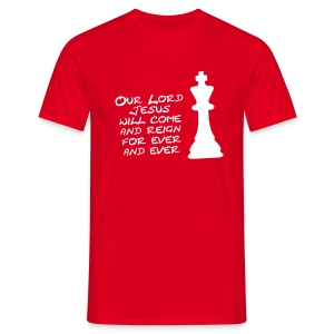 Checkmate Atheists (front + back) - Men's T-Shirt